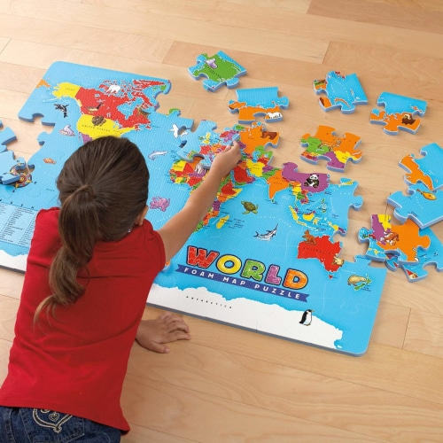 Educational Insights World Foam Map Puzzle Perspective: back