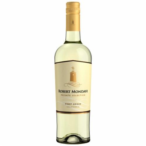 Robert Mondavi Private Selection Pinot Grigio White Wine Perspective: back