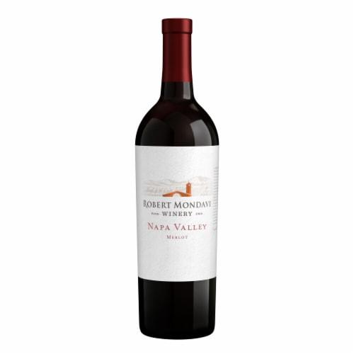 Robert Mondavi Winery Merlot Red Wine Perspective: back
