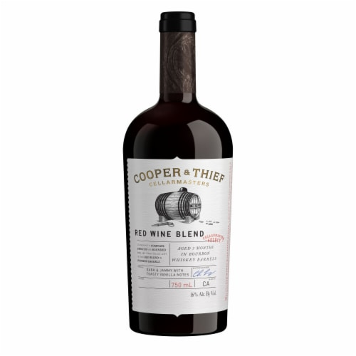 Cooper & Thief Bourbon Barrel Aged Red Wine Blend Perspective: back