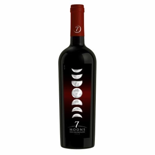 7 Moons Dark Side Red Blend Bottle Wine Perspective: back