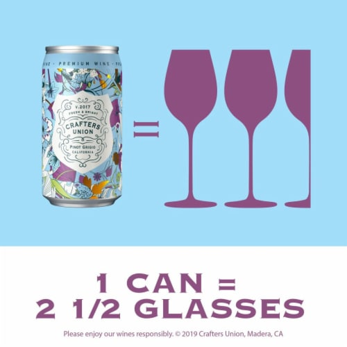 Crafters Union Pinot Grigio Canned White Wine Perspective: back