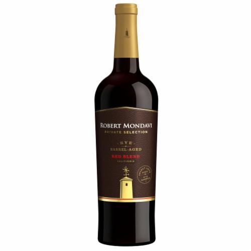 Robert Mondavi Private Selection Rye Barrel Aged Red Blend Wine Perspective: back