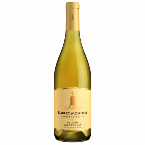 Robert Mondavi Private Selection Buttery Chardonnay White Wine Perspective: back