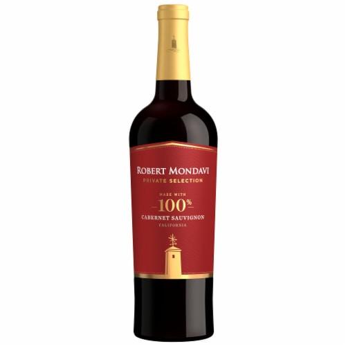 Robert Mondavi Private Selection 100% Cabernet Sauvignon Red Wine Perspective: back