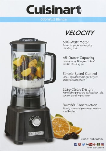 Cuisinart Velocity High Performance Blender - Gray Perspective: back