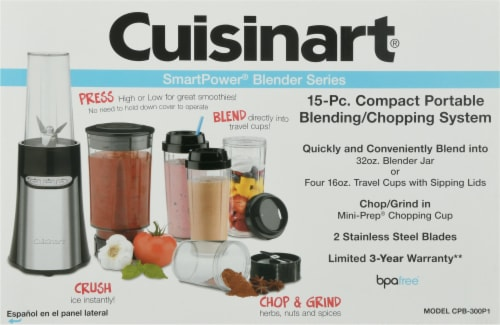 Cuisinart SmartPower Compact Portable Blending/Chopping System Perspective: back