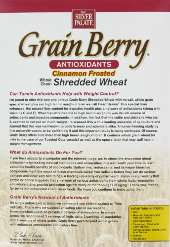 The Silver Palate Grain Berry Cinnamon Shredded Wheat Perspective: back