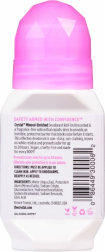 Crystal Unscented Mineral Roll-On Deodorant Perspective: back