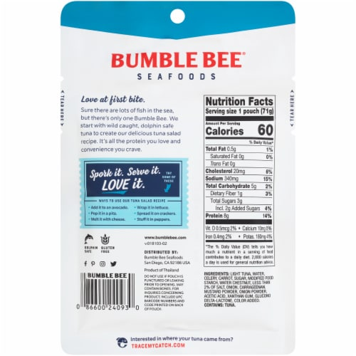 Bumble Bee Sandwich in Seconds Tuna Salad Perspective: back