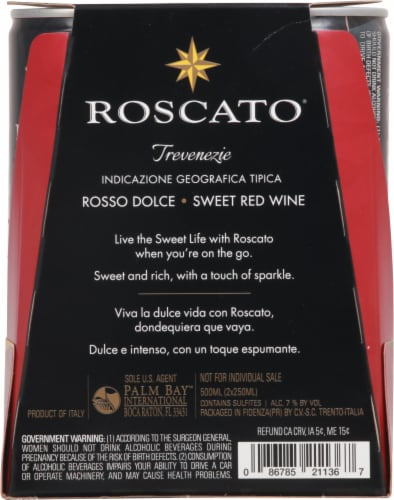 Roscato Rosso Dolce Sweet Red Perspective: back