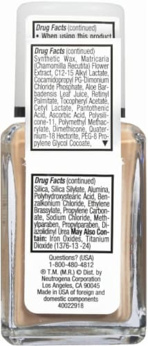Neutrogena SkinClearing 80 Medium Beige Oil-Free Makeup Perspective: back