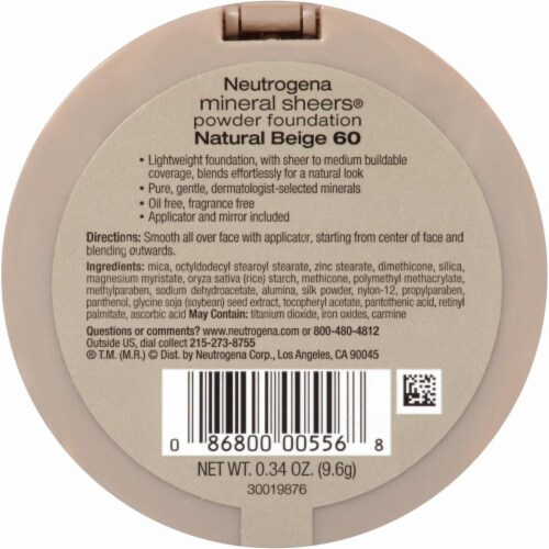 Neutrogena Mineral Sheers Natural Beige Powder Foundation Perspective: back