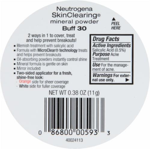 Neutrogena SkinClearing 30 Buff Mineral Powder Perspective: back