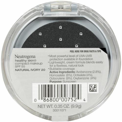 Neutrogena Healthy Skin Natural Ivory Compact Makeup Perspective: back