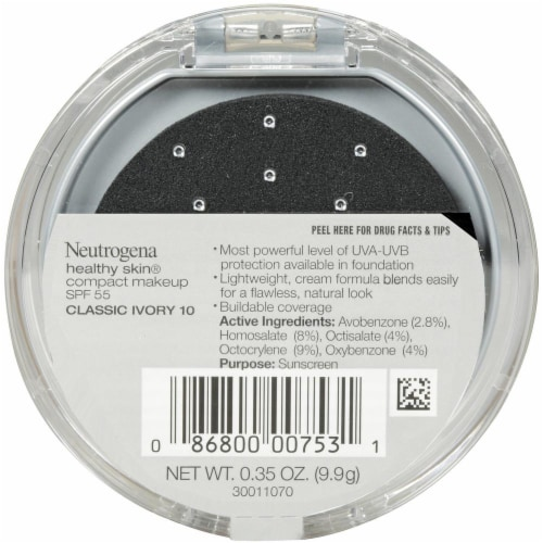 Neutrogena Healthy Skin Classic Ivory 10 Compact Makeup Perspective: back
