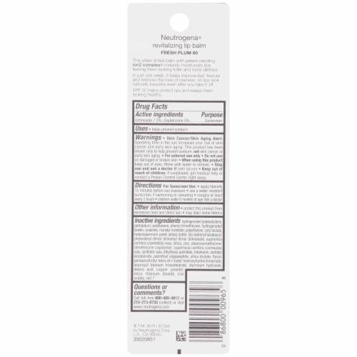 Neutrogena 50 Soft Caramel Sheer Tint Revitalizing Lip Balm SPF 20 Perspective: back