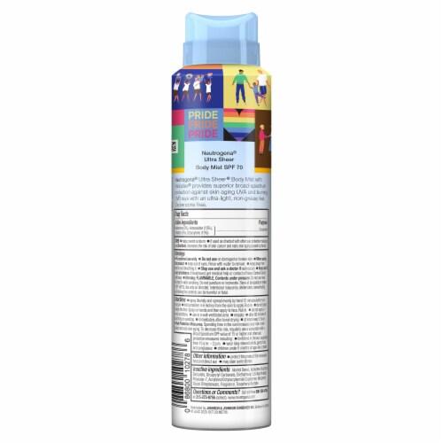 Neutrogena Ultra Sheer Body Mist SPF 70 Sunscreen Perspective: back