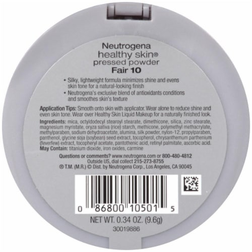 Neutrogena Healthy Skin 10 Fair Pressed Powder SPF 20 Perspective: back