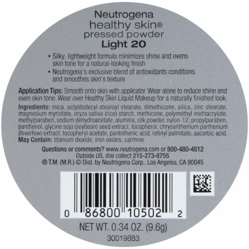 Neutrogena Healthy Skin 20 Light Pressed Powder SPF 20 Perspective: back