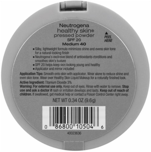 Neutrogena Healthy Skin 40 Medium Pressed Powder SPF 20 Perspective: back