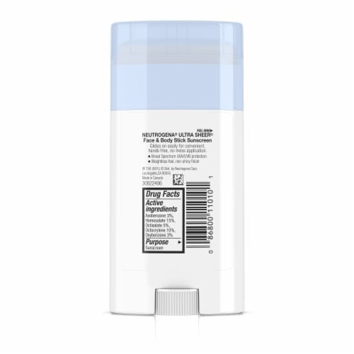 Neutrogena UltraSheer Face and Body Broad Spectrum Sunscreen Stick SPF 70 Perspective: back