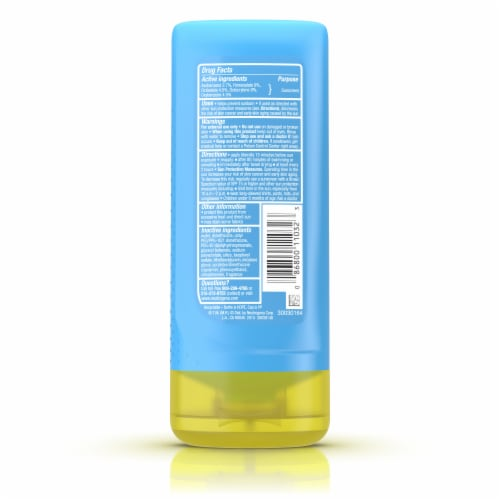 Neutorgena Cool Dry Sport with Mircomesh Sunscreen Lotion SPF 50 Perspective: back