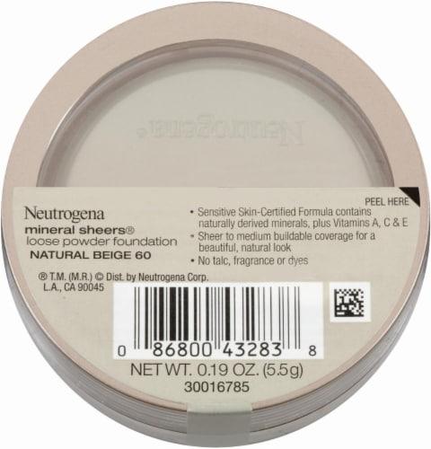 Neutrogena Mineral Sheers 60 Natural Beige Loose Powder Foundation Perspective: back
