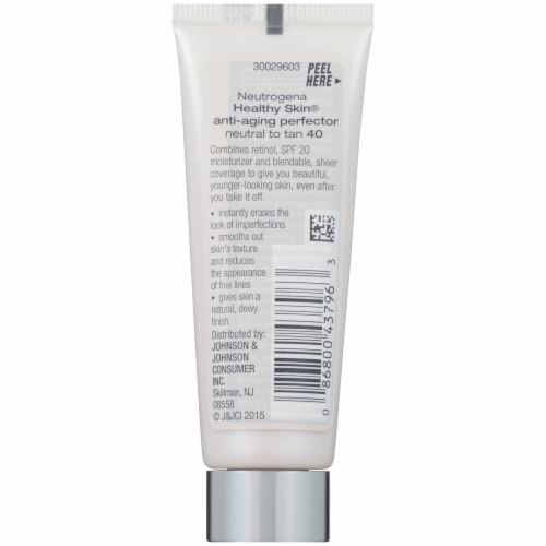 Neutrogena Healthy Skin Neutral to Tan SPF 20 Anti-Aging Perfector Perspective: back