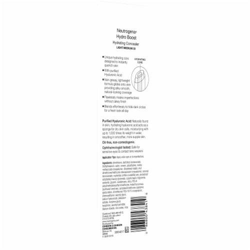 Neutrogena Hydro Boost 30 Light/Medium Hydrating Concealer Perspective: back