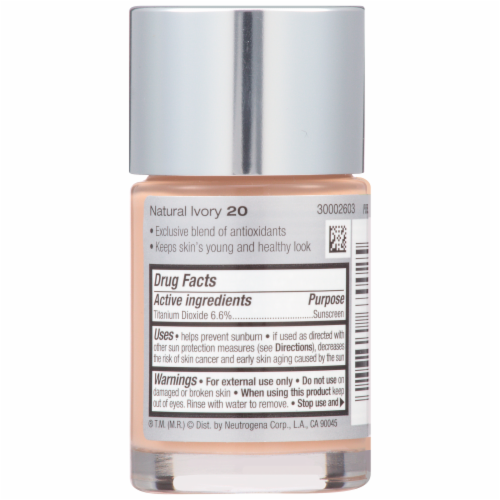 Neutrogena Healthy Skin Natural Ivory 20 Liquid Foundation Perspective: back