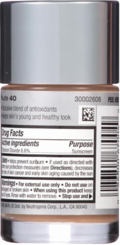 Neutrogena Healthy Skin 40 Nude Liquid Makeup SPF 20 Perspective: back