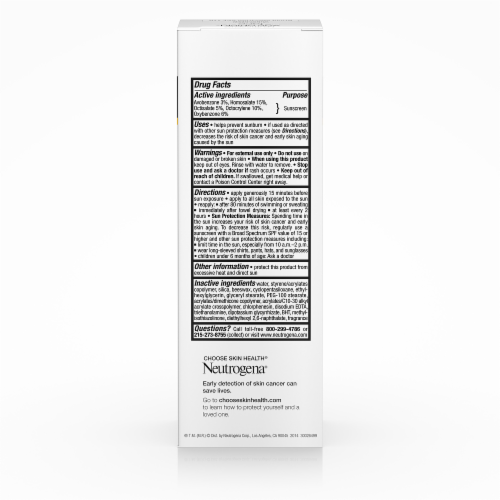 Neutrogena Age Shield Oil-Free Lotion Face Sunscreen SPF 110 Perspective: back