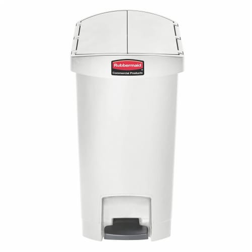 Rubbermaid 1883556 Slim Jim 8-Gallon Plastic Garbage Can, Step-On Front Pedal Perspective: back