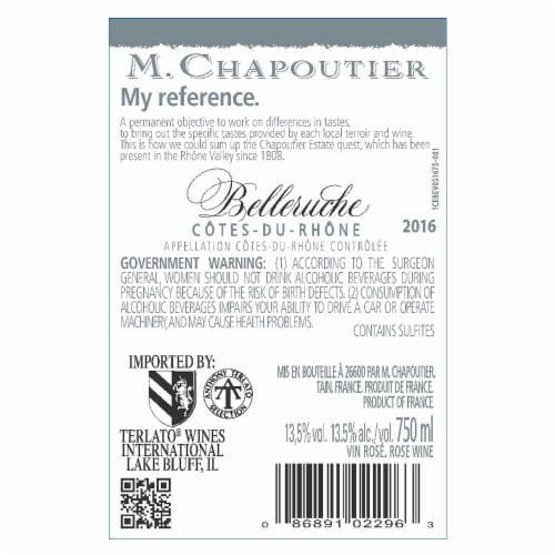 Chapoutier Belleruche Rouge Perspective: back