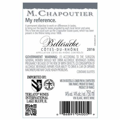 M. Chapoutier Belleruche Blanc Perspective: back