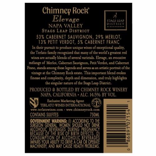 Chimney Rock Elevage Red Blend Perspective: back