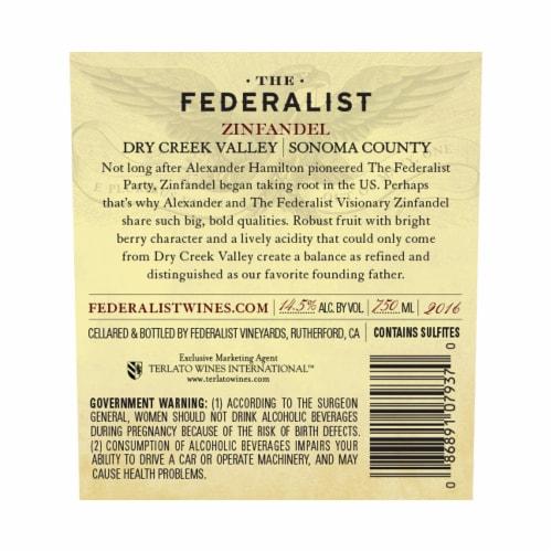 The Federalist Zinfandel Perspective: back