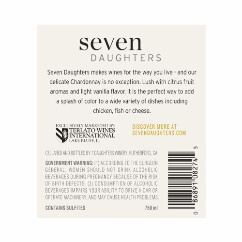 Seven Daughters Chardonnay Perspective: back