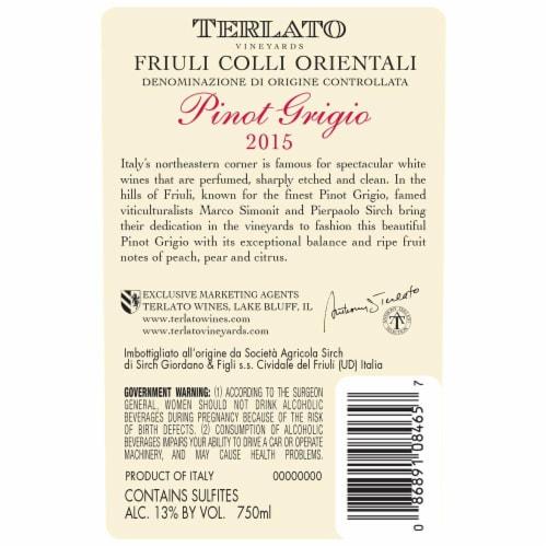 Terlato Pinot Grigio Perspective: back