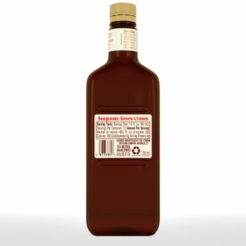 Seagram's 7 Crown American Blended Whiskey Perspective: back