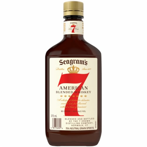 Seagram's 7 American Blended Whiskey Perspective: back