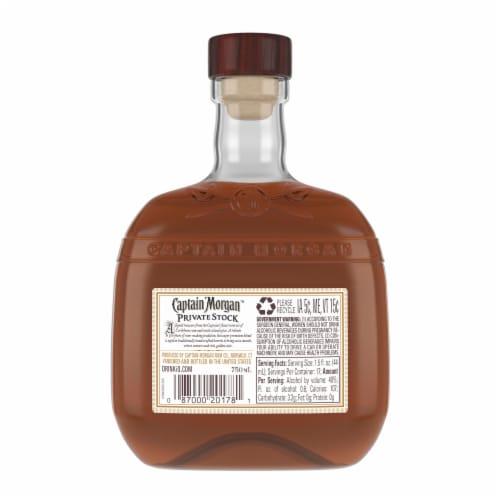 Captain Morgan Premium Barrel Private Stock Rum Perspective: back