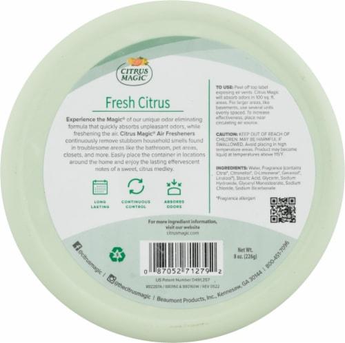 Citrus Magic Fresh Citrus Solid Air Freshener Perspective: back
