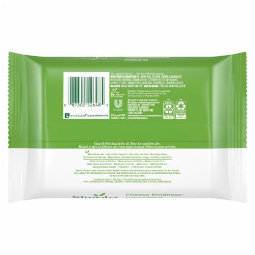 Simple Micellar Makeup Remover Wipes Perspective: back
