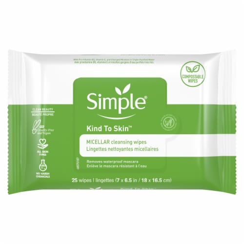 Simple Micellar Cleansing Wipes Perspective: back