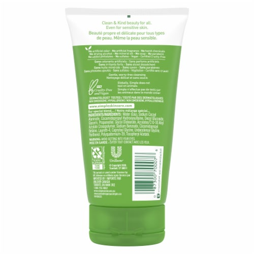 Simple Kind to Skin Moisturizing Facial Wash Perspective: back