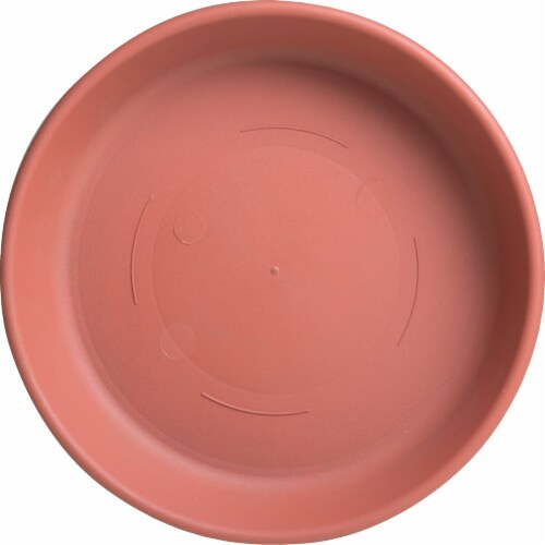 Bloem 12 In. Chocolate Poly Classic Flower Pot Saucer 51312CH Perspective: back