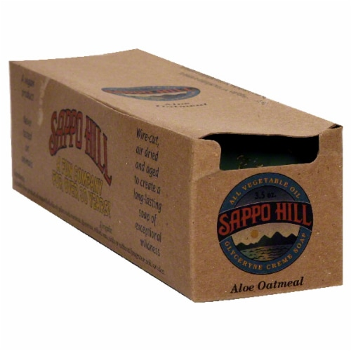 Sappo Hill Soapworks Aloe Oatmeal Glycerin Soap Bar Perspective: back