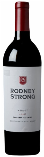 Rodney Strong Merlot Red Wine Perspective: back